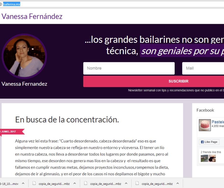 Danza y pasteles: ballerina.mx