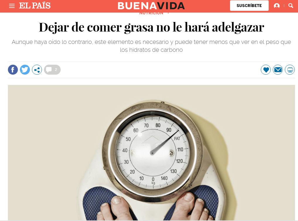 Los periódicos más importantes del país se hacen eco de los avances en el terreno de la nutrición.